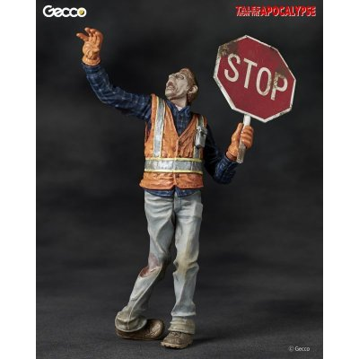 Photo1: Tales from the Apocalypse, The Traffic Guard - 1/16 Scale Zombie Plastic Model Kit